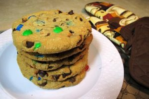 M&M Chocolate Chip Gourmet Cookie