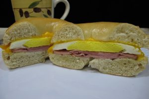 Ham, Egg, & Cheese on a Plain Bagel