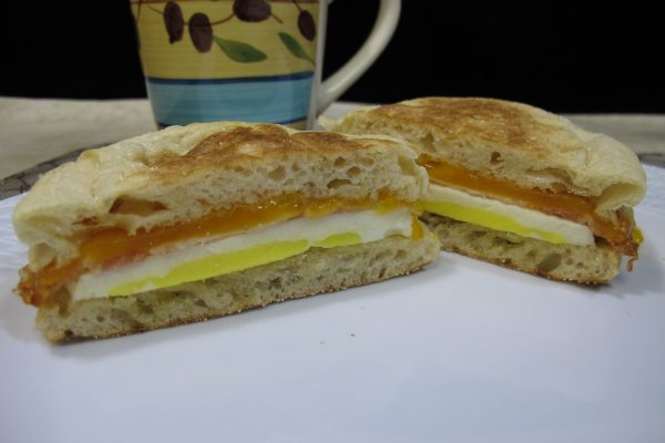 English Muffin with Bacon, Egg, & Cheese