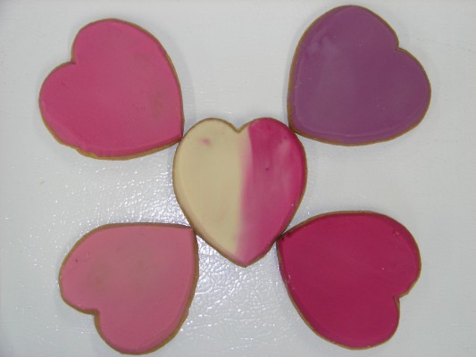 Whole Wheat Frosted Heart Cookie